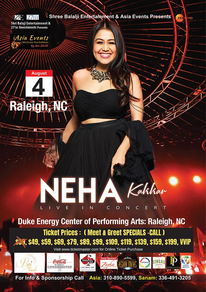 Neha Kakkar August2019